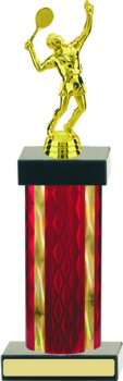 Diamond Hologram Wide Column Tennis Trophy