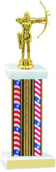 Flag Series Wide Column Archery Trophy