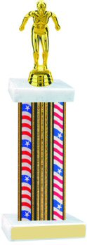 Flag Series Wide Column Swimming Trophy