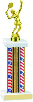 Flag Series Wide Column Tennis Trophy