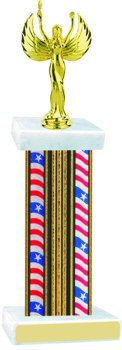 Flag Series Wide Column Victory Trophy