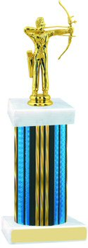Prism Hologram Wide Column Archery Trophy