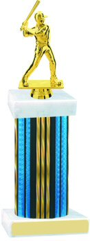 Prism Hologram Wide Column Baseball Trophy