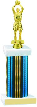Prism Wide Column Basketball Trophy