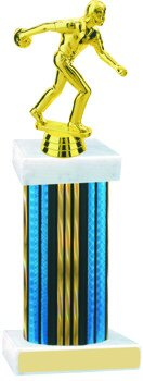 Prism Hologram Wide Column Bowling Trophy