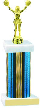 Prism Hologram Wide Column Cheerleading Trophy