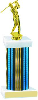 Prism Hologram Wide Column Golf Trophy