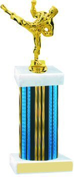 Prism Wide Column Martial Arts Trophy