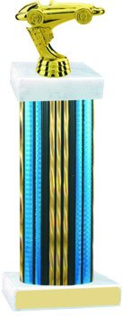 Prism Hologram Traditional Wide Column Pinewood Derby Trophy