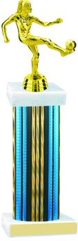 Prism Hologram Wide Column Soccer Trophy