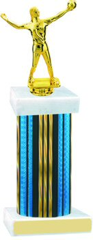 Prism Wide Column Volleyball Trophy