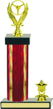 Diamond Hologram Car Show Trophy with Trim