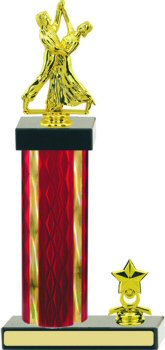 Diamond Hologram Dance Trophy with Trim