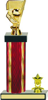 Diamond Hologram Wide Column Field Hockey Trophy with Trim