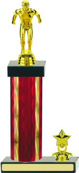 Diamond Hologram Swimming Trophy with Trim