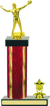 Diamond Hologram Volleyball Trophy with Trim