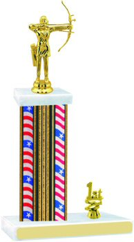 Flag Series Archery Trophy with Trim