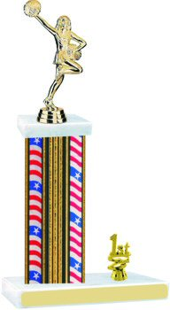 Flag Series Cheerleading Trophy with Trim