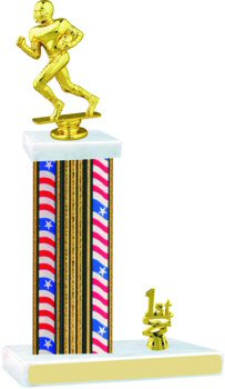 Flag Series Football Trophy with Trim