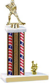 Flag Series Hockey Trophy with Trim