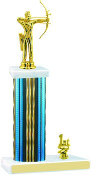 Prism Hologram Archery Trophy with Trim