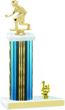 Prism Hologram Wide Column Bocce Trophy with Trim