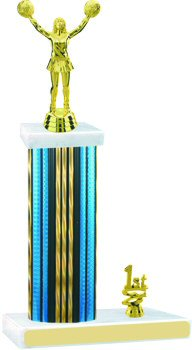 Prism Hologram Cheerleading Trophy with Trim