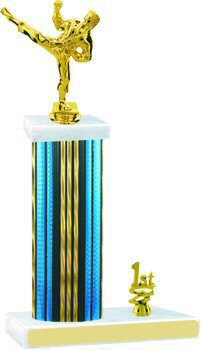 Prism Hologram Martial Arts Trophy with Trim