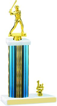 Prism Hologram Wide Column Softball Trophies with Trim