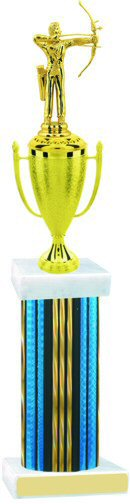 Prism Hologram Wide Column Archery Cup Trophy