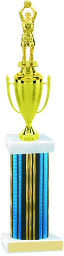 Prism Hologram Wide Column Basketball Cup Trophy