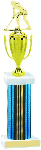 Prism Hologram Wide Column Field Hockey Cup Trophy