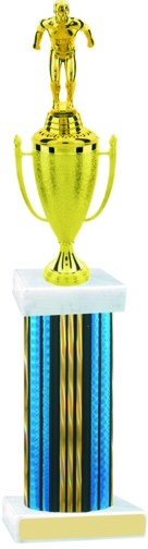 Prism Hologram Wide Column Swimming Cup Trophy
