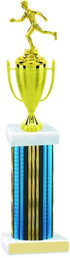 Prism Hologram Wide Column Runner Cup Trophy