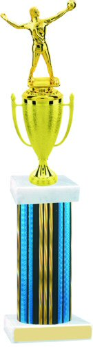 Prism Hologram Wide Column Volleyball Cup Trophy